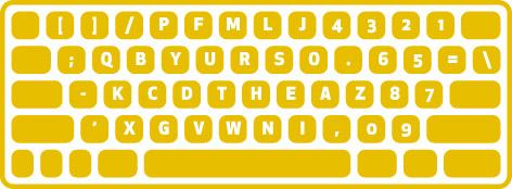 dvorak keyboard left